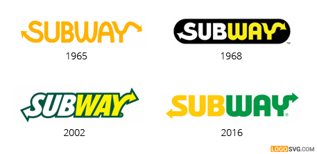 Subway logo evolution PlusPng.com  - Subway Logo Eps PNG