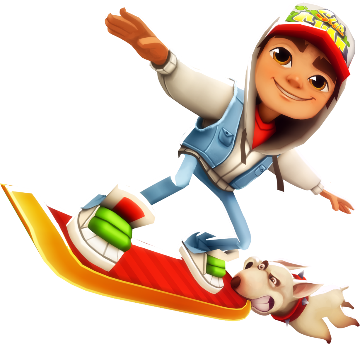 Meet the heroes of street cool - Subway Surfer HD PNG