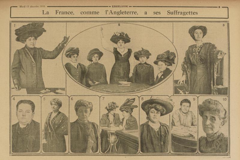 File:Excelsior - La France, comme lu0027Angleterre, à ses Suffragettes. - Suffragettes PNG