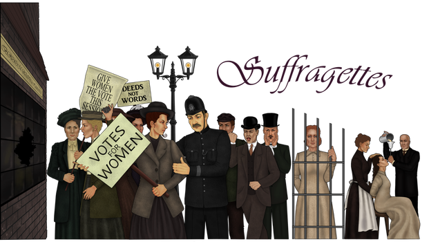 knockdownginger 5 8 Suffragettes by Gabriella92 - Suffragettes PNG