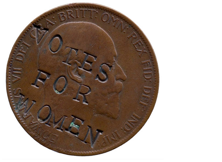 Suffragette · Coin in British library - Suffragettes PNG