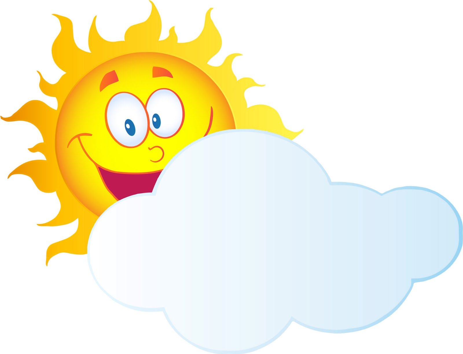 Happy Sun Cartoon - Clipart library - PNG Sun And Clouds