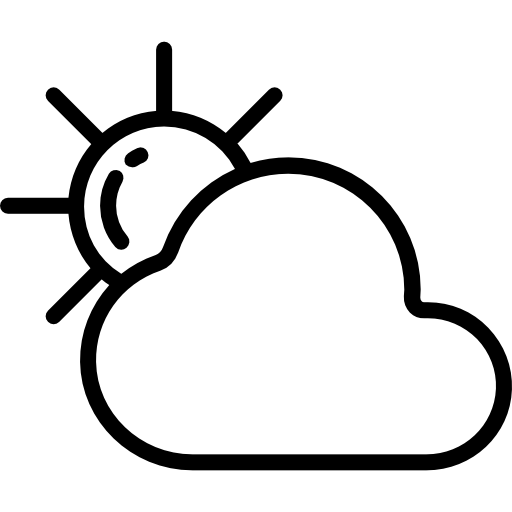 PNG SVG PlusPng.com  - Sun And Clouds PNG Black And White