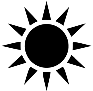 Clipart Info - Sun Ray PNG Black And White