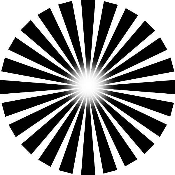 Sun Ray PNG Black And White