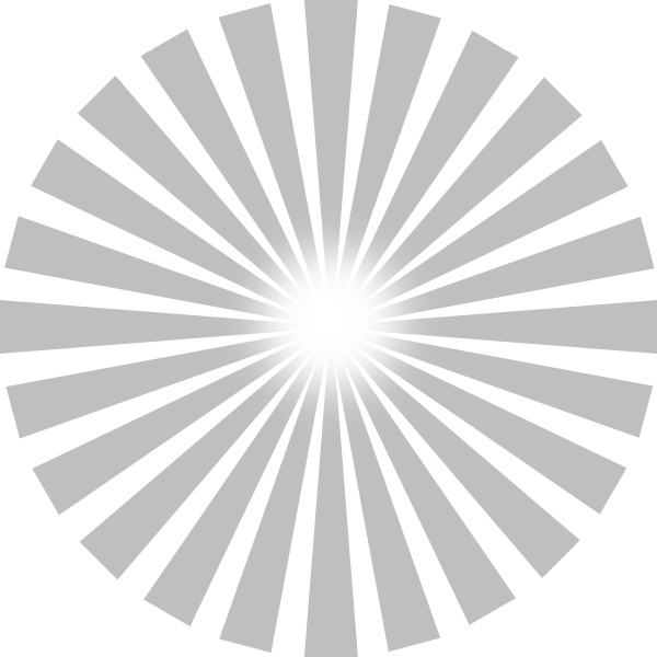Sun Ray PNG Black And White - 170379