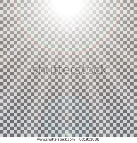 Realistic Sun Rays Light Effect On Stock Vector 631913888 - Shutterstock - Sun Ray PNG Black And White