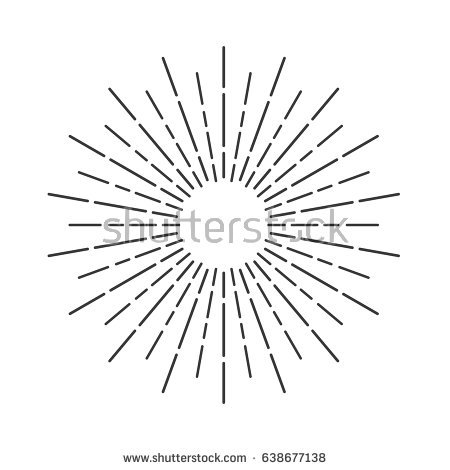 Sun Ray PNG Black And White - 170396