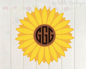 Sunflower, flower (Sunflower Only) SVG, PNG files, instant download - Sunflowers PNG