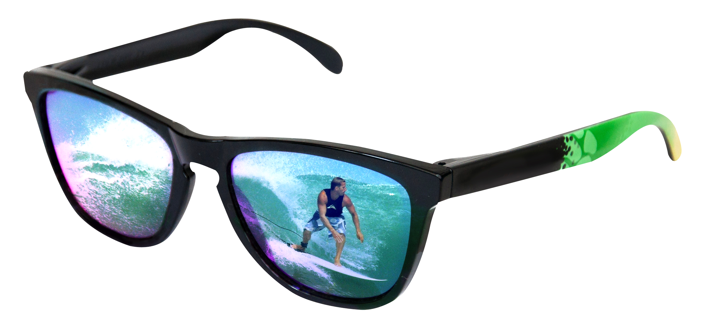 Sunglasses With Surfer Reflection PNG Image - Sunglasses HD PNG
