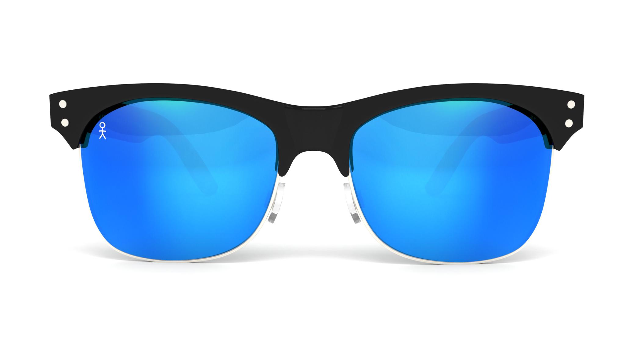 Blue Reflective Glasses