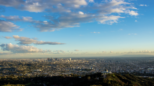 (HD) Los Angeles Day To Night Sunset - Sunset PNG HD