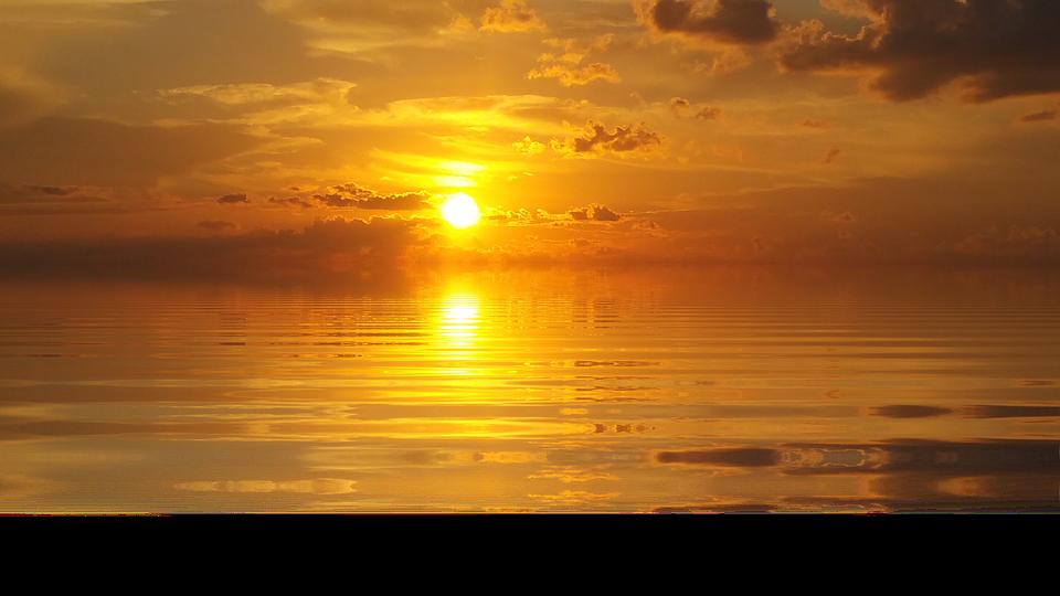 Sunset, Sea, Nature, Sun, Isolated, Lake - Sunset PNG HD