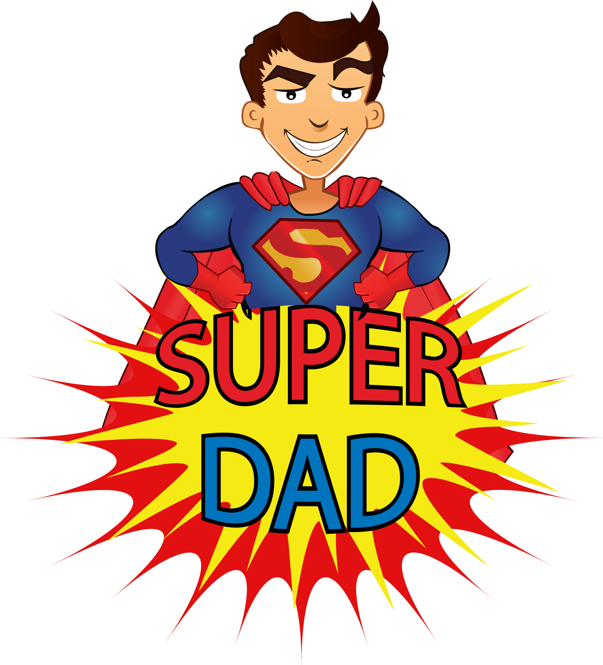 Cartton Super Dad Image 191x210 - Cartoon PNG Images - All Kidsu0027 Fun - Super Dad PNG