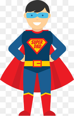 Superhero Dad vector illustration, Vector Graphics, Vector, Vector  Illustration PNG and Vector - Super Dad PNG