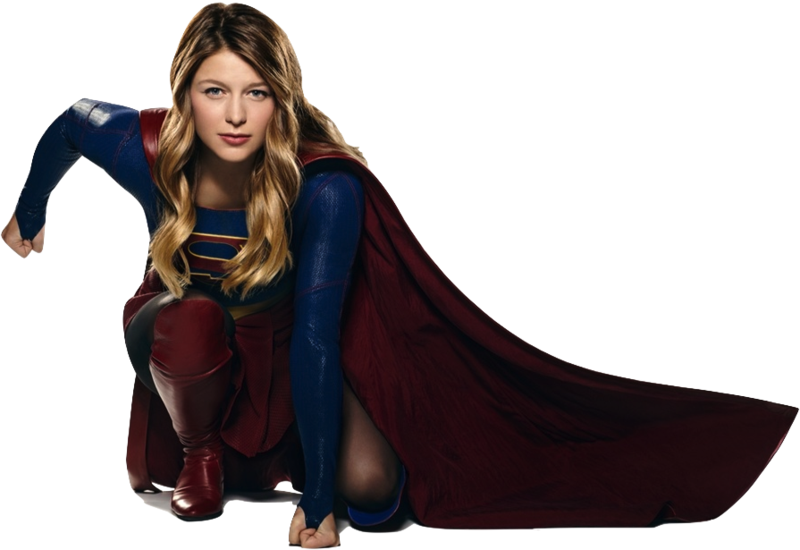 Melissa Benoist as Supergirl (crouching) PNG by nickelbackloverxoxox PlusPng.com  - Supergirl HD PNG