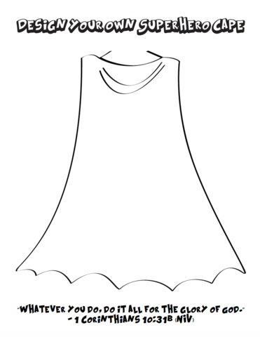 Design Your Own Superhero Cape and Shield Coloring Pages - Superhero Capes PNG