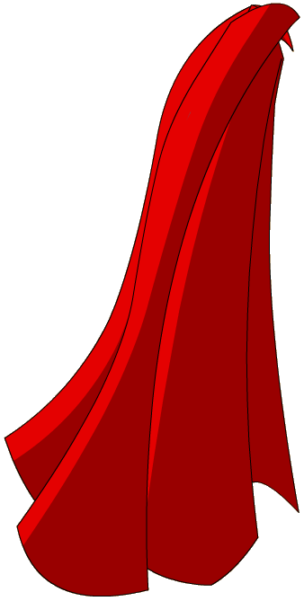 Red Herou0027s Cape.png - Superhero Capes PNG