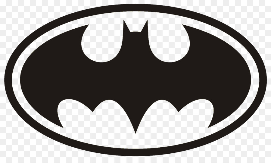 Batman Logo Superhero Clip art - photography logo - Superhero PNG Black And White