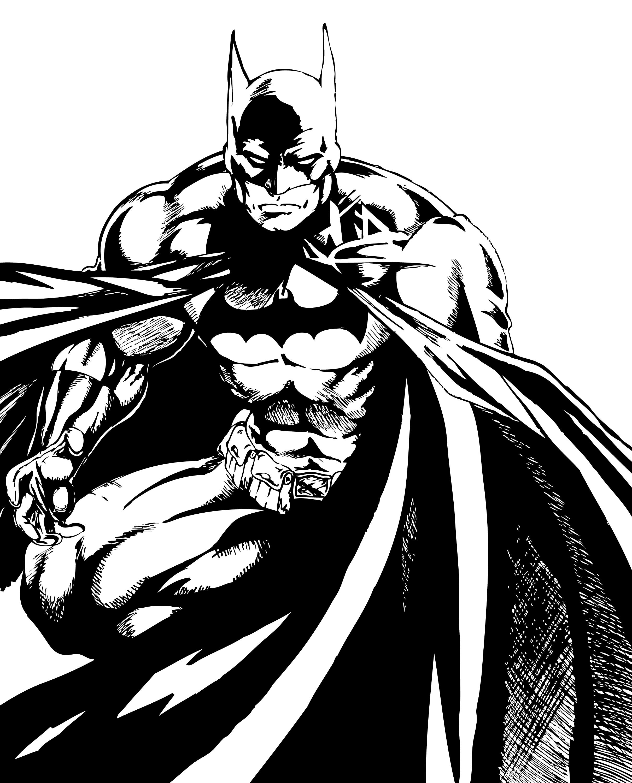 Batman Sketch - Superhero PNG Black And White