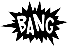 Superhero Word Bubbles - Superhero PNG Black And White