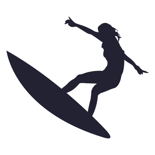 Girl surfing jump silhouette png - Surfing HD PNG
