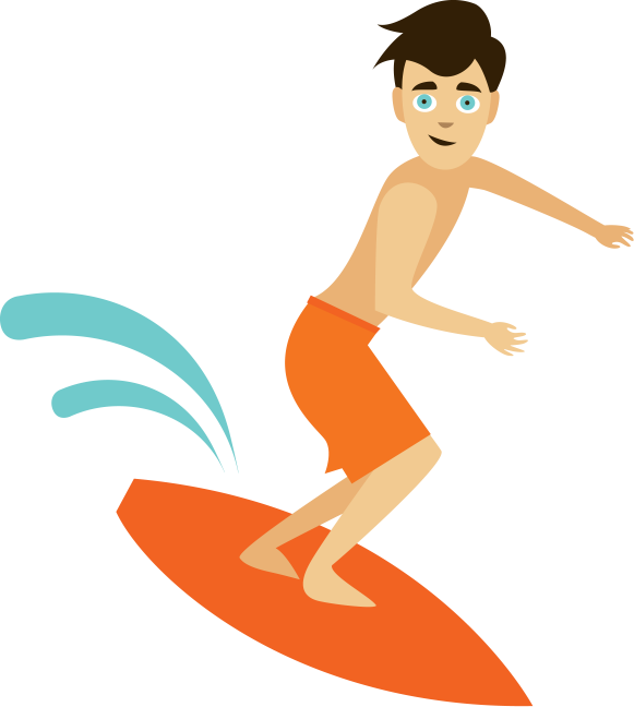 Look for me! - Surfing HD PNG