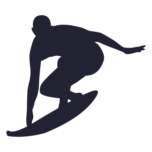 Surfing sport silhouette 2 png - Surfing HD PNG