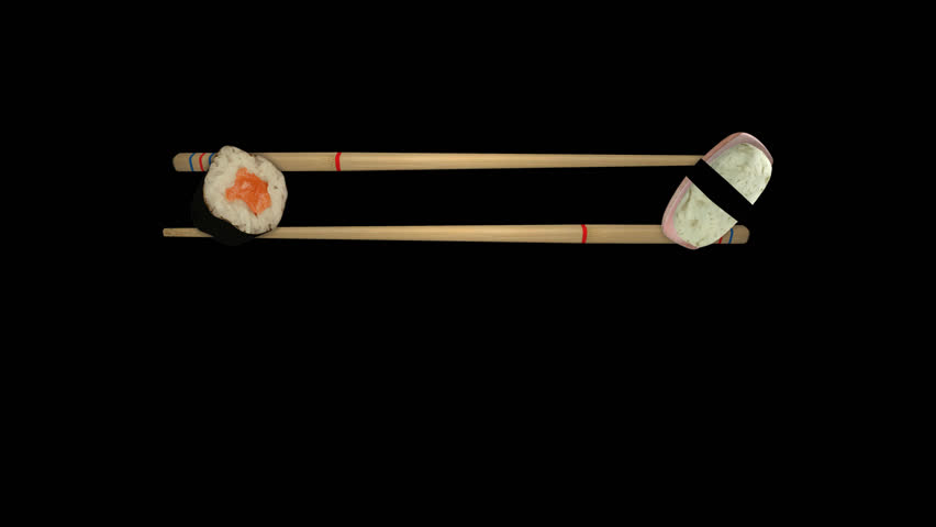 3d Sushi Title Chopsticks. Asian Food. Sushi Japan Alpha Channel. PNG    Alpha - Sushi HD PNG