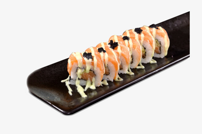 japanese sushi, Sumo Salmon Roll, Sushi, Hd Sushi Roll PNG Image and Clipart - Sushi HD PNG