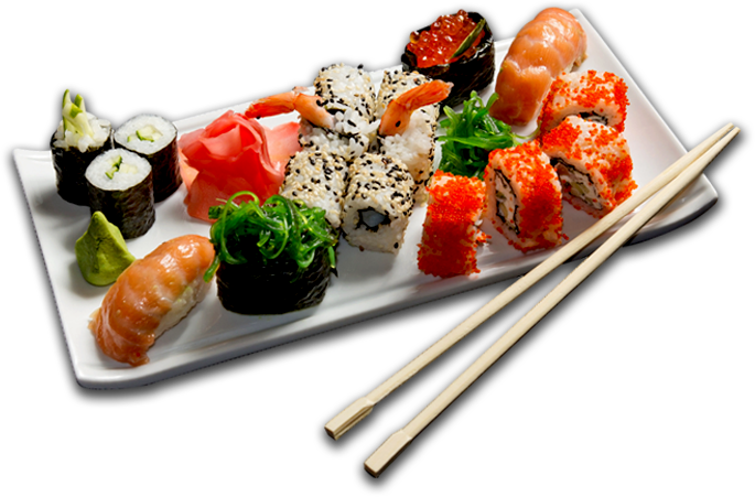 . PlusPng.com Types of protists are also included in foods that we eat such as sushi  (since seaweed is a type of protist) - Sushi PNG HD