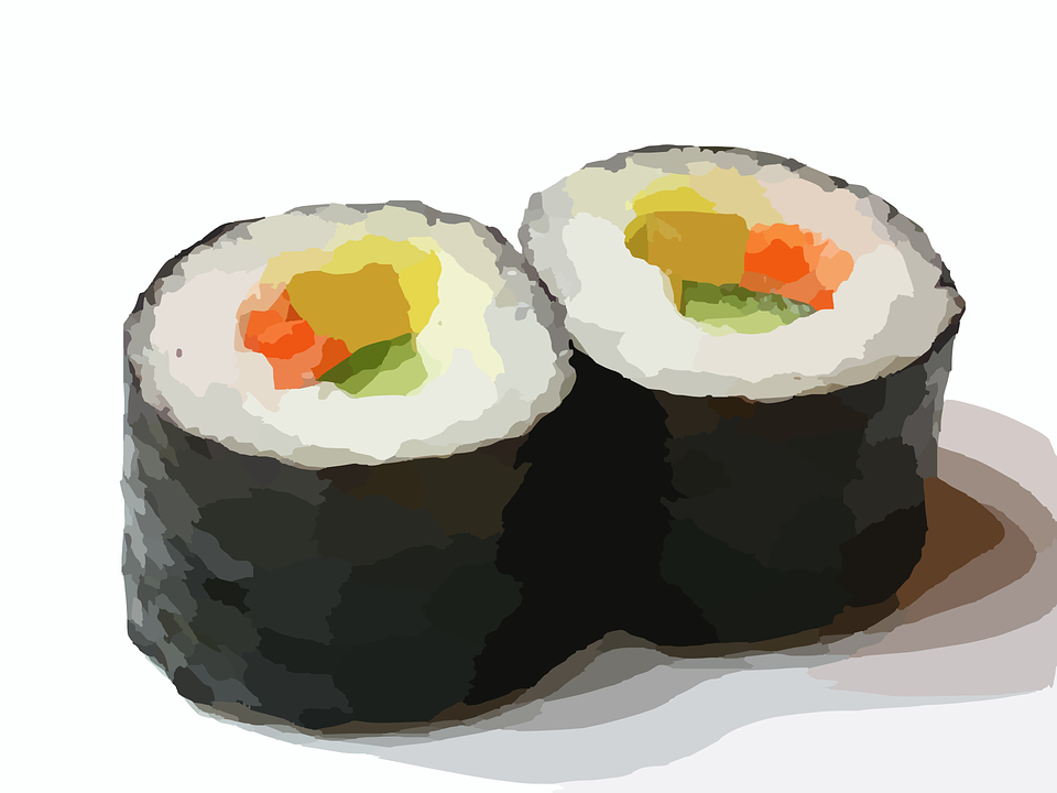 Sushi Roll, Sushi, Food, Chinese, Fish, Roll, Japanese - Sushi Roll PNG