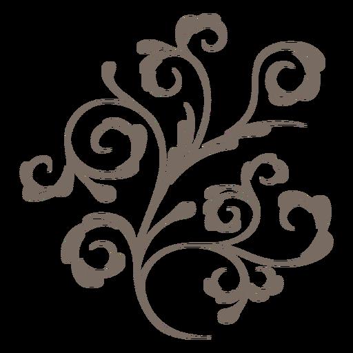 Decorative plant swirls png - Swirls PNG