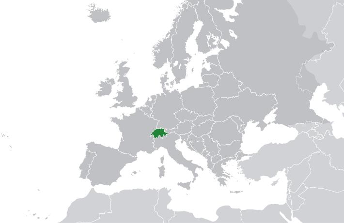 Map Of Switzerland.png - Switzerland PNG
