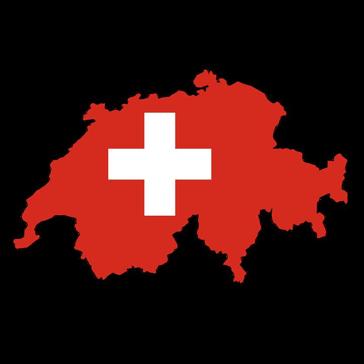 Switzerland, Alpine, Map, Flag, Contour, Borders - Switzerland PNG