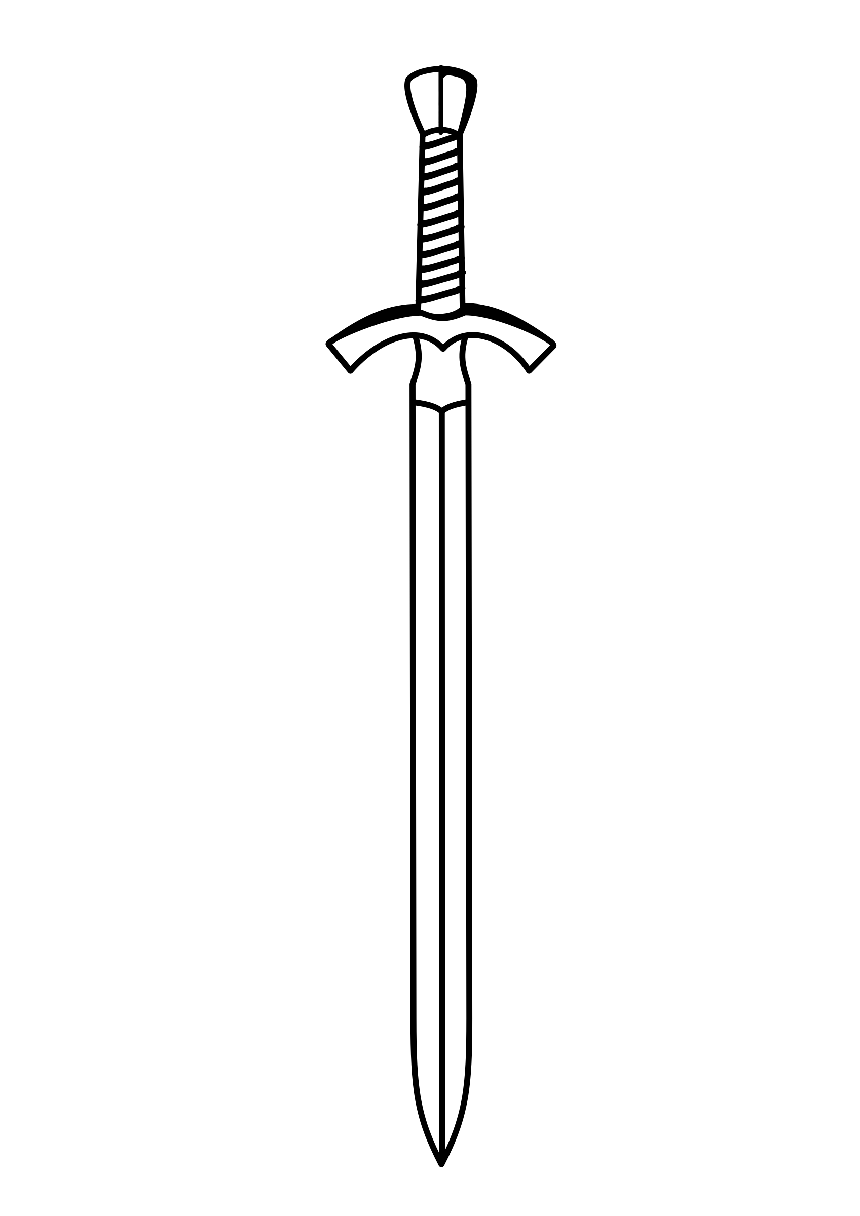 BIG IMAGE (PNG) - Sword PNG Black And White