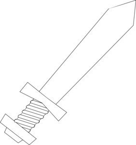 Black And White Sword Clip Art - Sword PNG Black And White