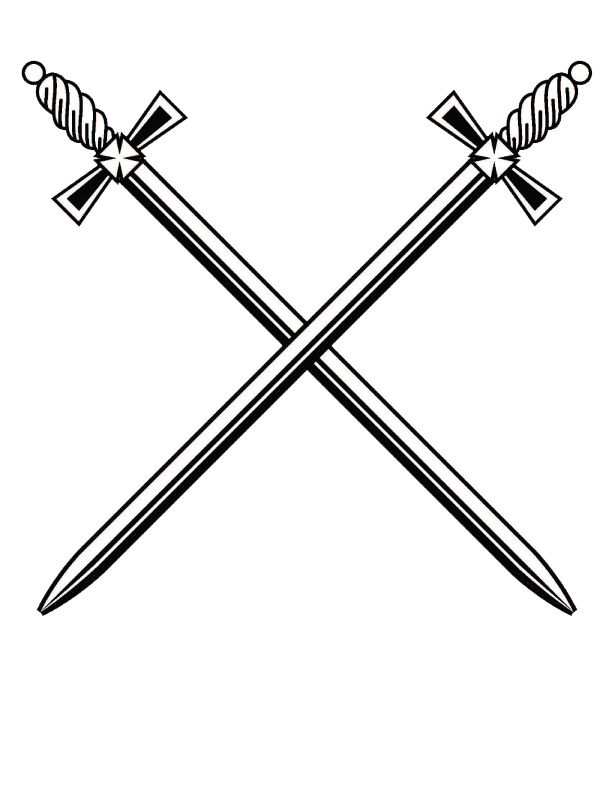 Cross Sword - Sword PNG Black And White