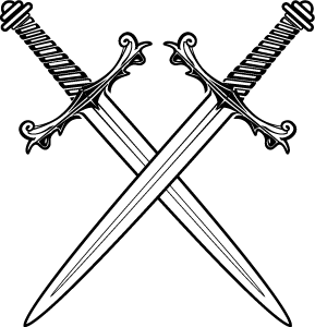Crossed-swords.png - Sword PNG Black And White