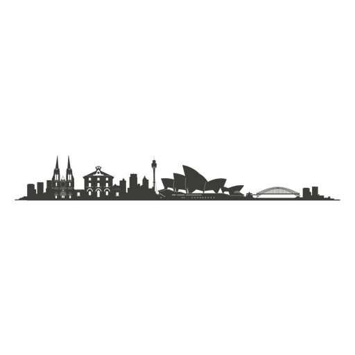 Sydney skyline silhouette png - Sydney PNG