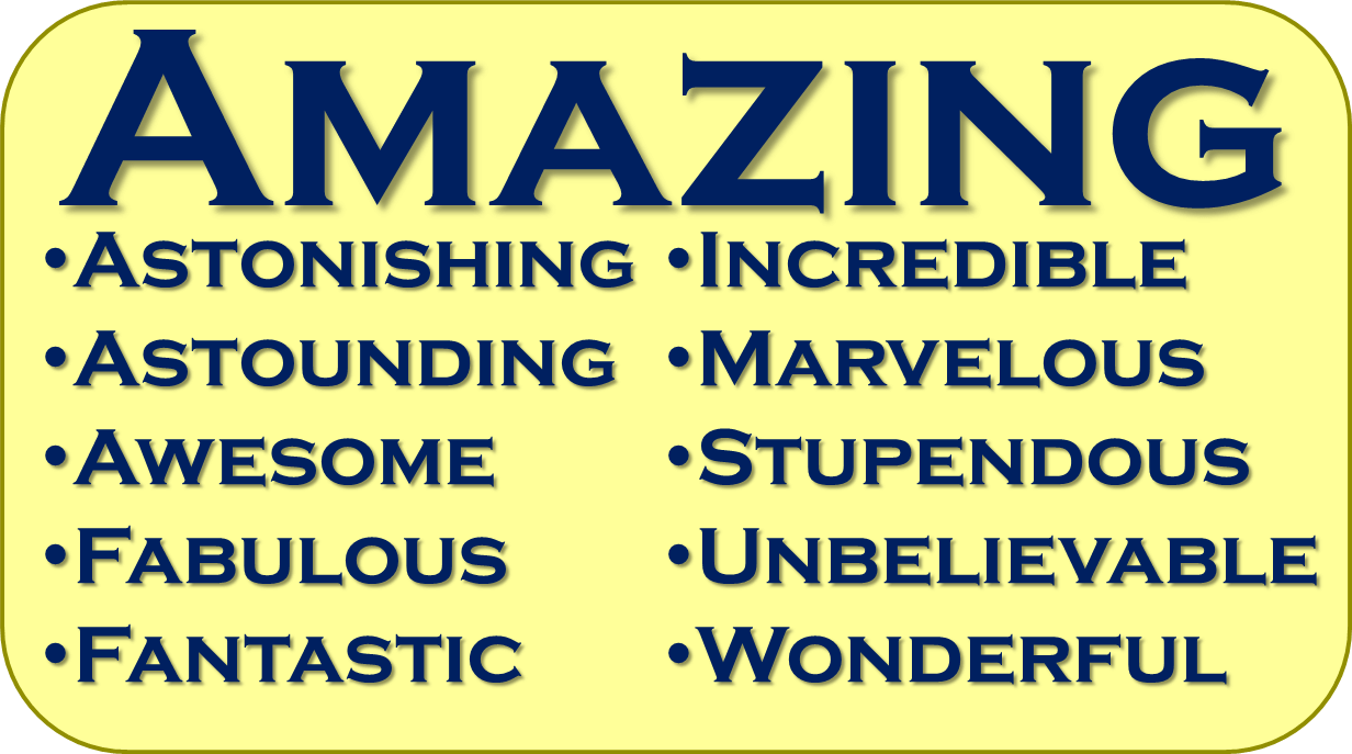 Synonyms for Amazing - Synonym PNG
