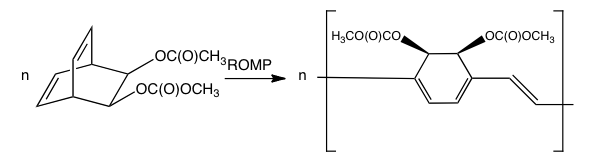 File:Ring-opening metathesis polymerization to synthesize PPV.png - Synthesize PNG