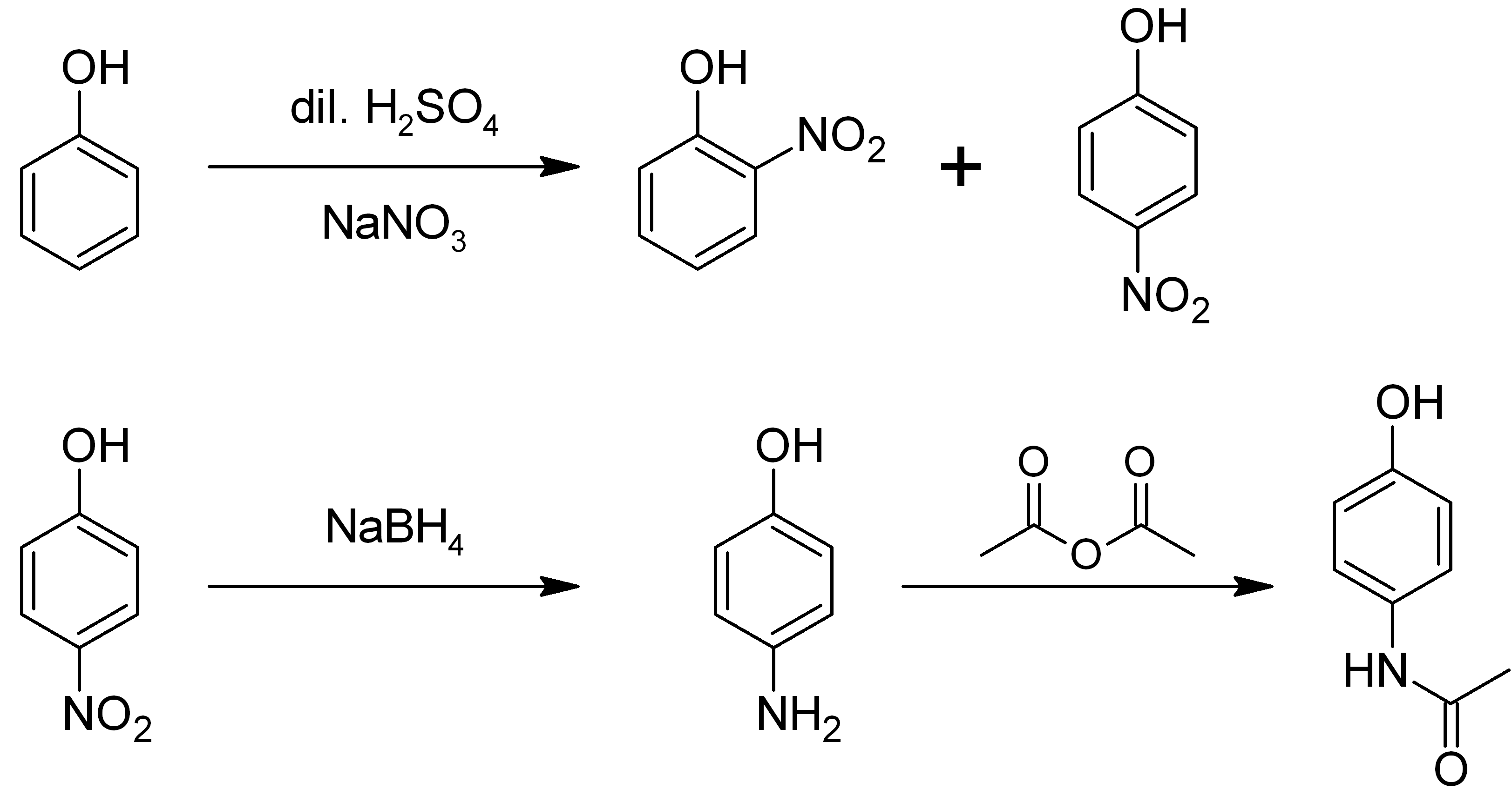 File:Synthesis of paracetamol from phenol.png - Synthesize PNG