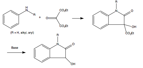 The overall reaction mechanism for the Martinet dioxindole synthesis.png - Synthesize PNG