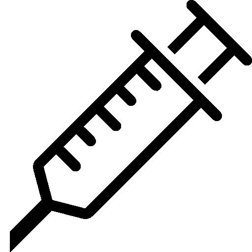 Syringe PNG Black And White - 60775
