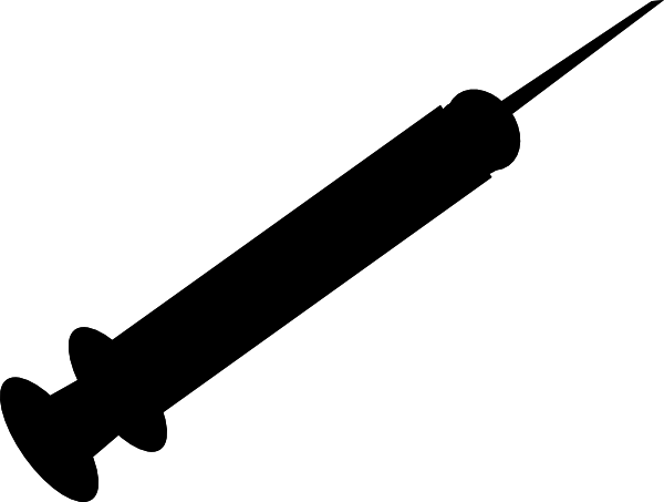 Syringe PNG Black And White - 60776