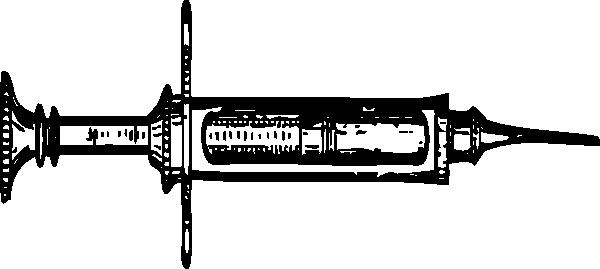 Syringe PNG Black And White - 60774