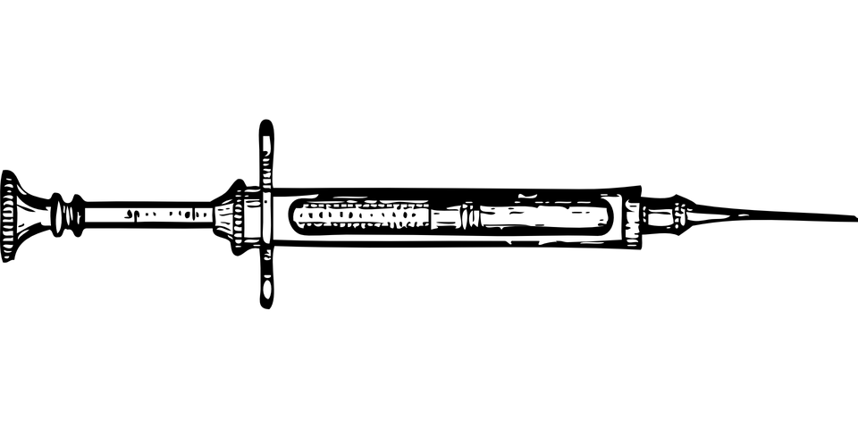Syringe PNG Black And White - 60780