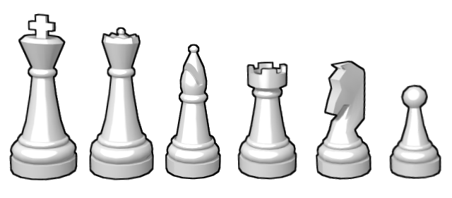 Chess Pieces.png - Szachy Figury PNG