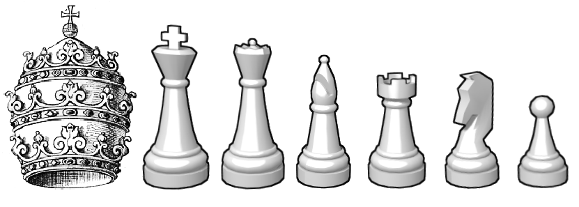 Szachy z papieżem - Szachy Figury PNG